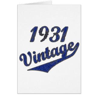 1931 Vintage Greeting Card