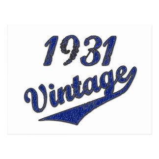 1931 Vintage Postcard