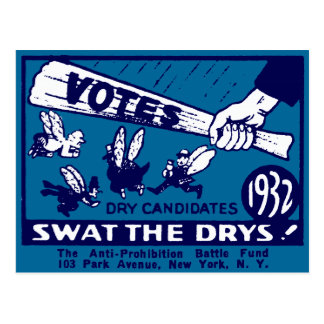 1932 Anti-Prohibition Campaign Postcard