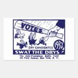 1932 Anti-Prohibition Campaign Rectangle Stickers