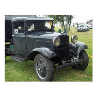 1932 antique classic dump truck postcard