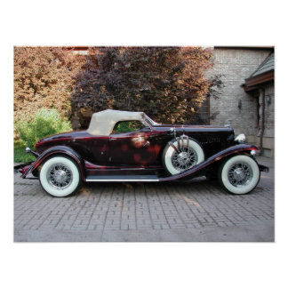 1932 Auburn Boattail Speedster Poster
