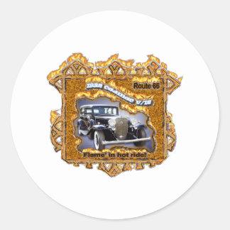 1932 CAD V-12 route 66 Classic Round Sticker