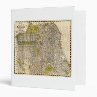 1932 Candrain Map of San Francisco California 3 Ring Binder