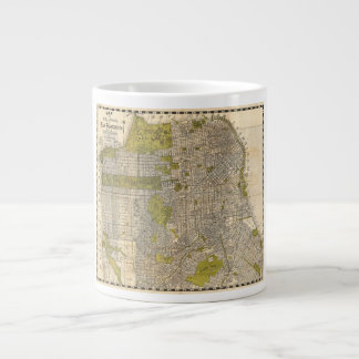 1932 Candrain Map of San Francisco California Large Coffee Mug