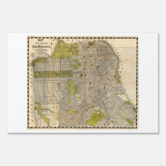1932 Candrain Map of San Francisco California Lawn Sign