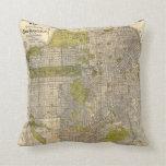 1932 Candrain Map of San Francisco California Pillows