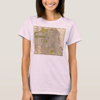 1932 Candrain Map of San Francisco California T-Shirt