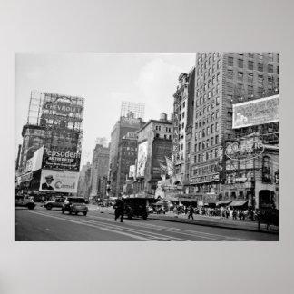 1932 CIUDAD DE LAS ÉPOCAS SQUARE-NEW YORK POSTER
