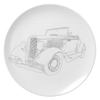 1932 Ford Dinner Plate