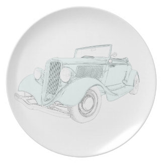 1932 Ford - green Party Plates