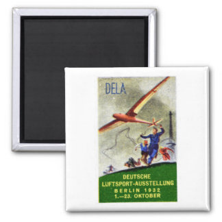 1932 Model Aircraft Competition Poster 2 Inch Square Magnet
