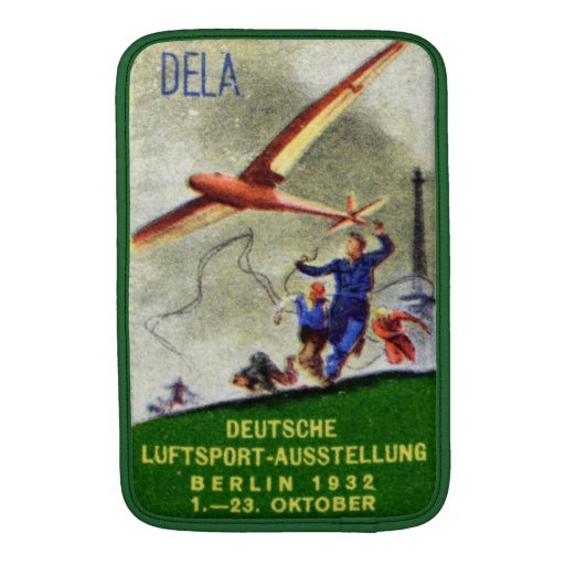 1932 Model Aircraft Competition Poster Sleeve For iPads
