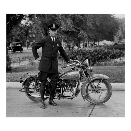 1932 MOTORCYCLE COP POSTER