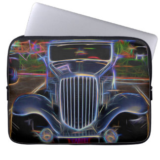 1932 Nash Coupe Antique Car - Neon Computer Sleeves