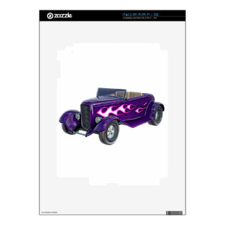 1932 Purple Roadster with Flame Decals For iPad 2