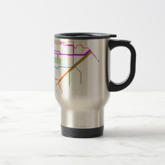 1932 San Francisco Municipal Railway Map Travel Mug