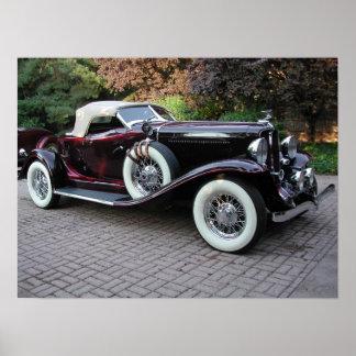 1932 sección troncónica castaña Speedster Póster