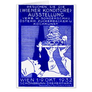 1932 Vienna Baking Expo Poster Card