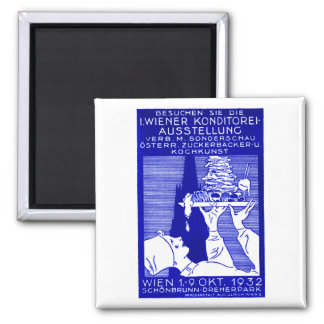 1932 Vienna Baking Expo Poster Fridge Magnet