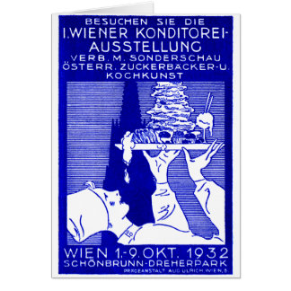 1932 Vienna Baking Expo Poster Greeting Cards