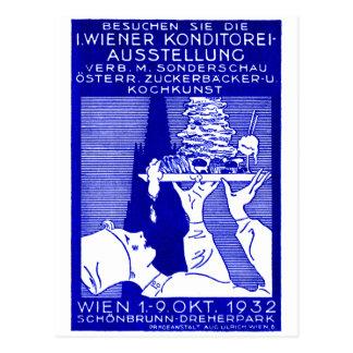 1932 Vienna Baking Expo Poster Postcard