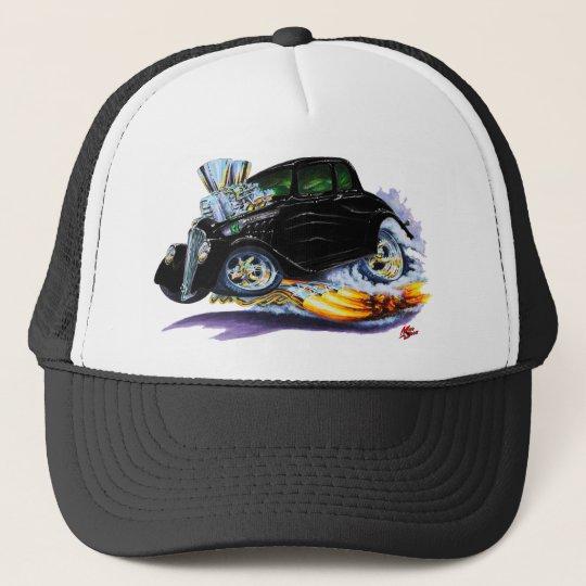 1933-36 Willys Black Car Trucker Hat