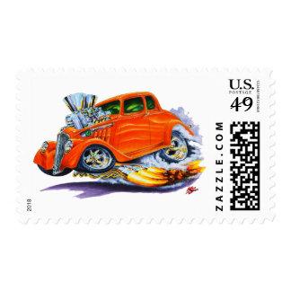 1933-36 Willys Orange Car Postage