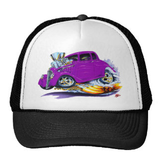 1933-36 Willys Purple Car Trucker Hat