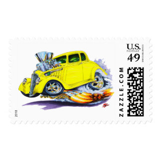 1933-36 Willys Yellow Car Postage