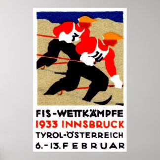 1933 Austrian Ski Race Poster