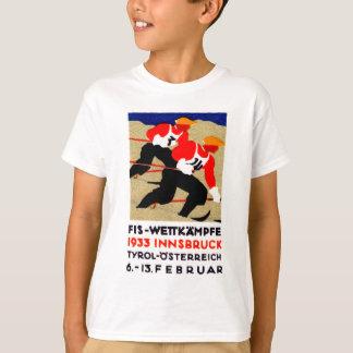 1933 Austrian Ski Race Poster T-Shirt