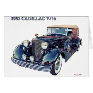 1933 CADILLAC V/16 #2 CARD