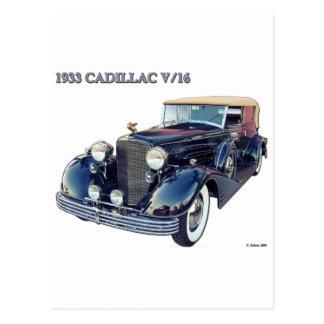 1933 CADILLAC V/16 #2 POSTCARD
