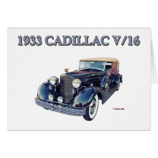 1933 CADILLAC V/16 CARD