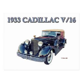 1933 CADILLAC V/16 POSTCARD