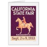 1933 California State Fair Card