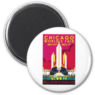 1933 Chicago World Fair 2 Inch Round Magnet