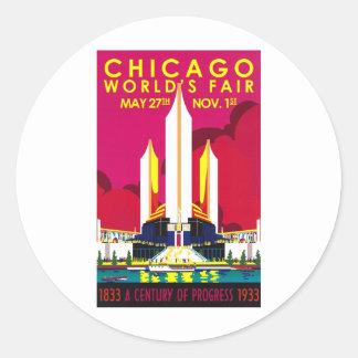 1933 Chicago World Fair Classic Round Sticker