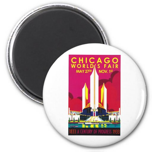 1933 Chicago World Fair Magnets