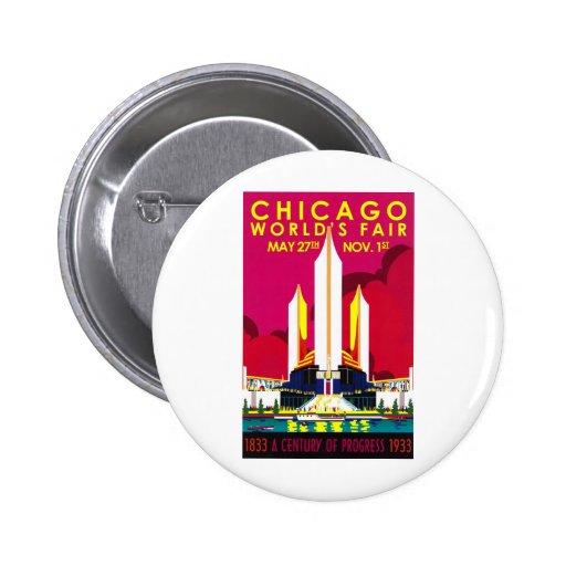 1933 Chicago World Fair Pinback Button