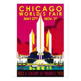 1933 Chicago World Fair Postcard