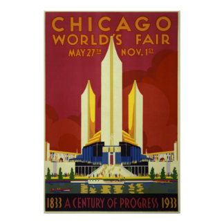 1933 Chicago World's Fair Poster