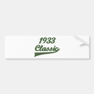 1933 Classic Car Bumper Sticker