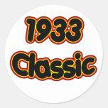 1933 Classic Round Stickers
