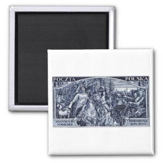 1933 Deliverance of Vienna Postage Stamp 2 Inch Square Magnet