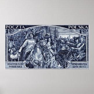 1933 Deliverance of Vienna Postage Stamp Poster