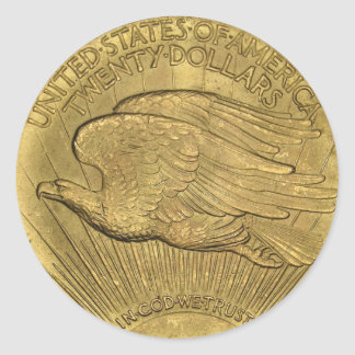 1933 Double Eagle Gold Coin Classic Round Sticker