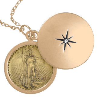 1933 Double Eagle Gold Coin Gold Plated Necklace