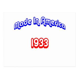 1933 Made In America Postcard